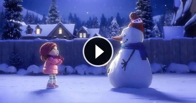 Um curto vídeo de Natal sobre uma amizade para toda a vida