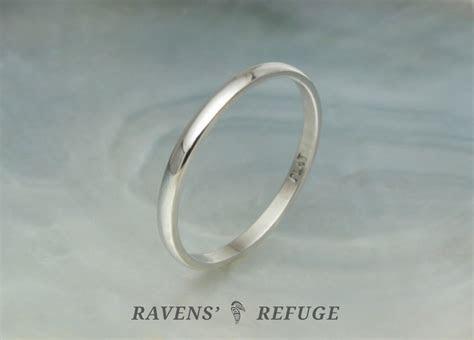 dainty platinum wedding band / stacking ring, artisan