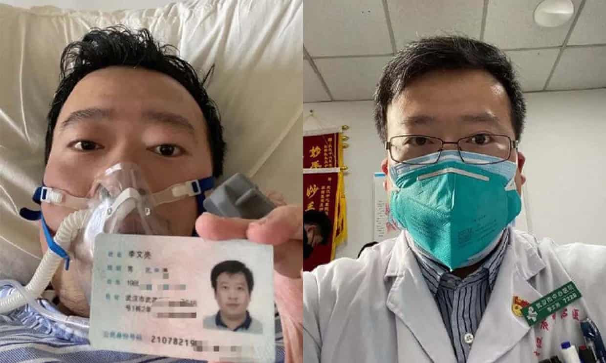 Dr Li Wenliang, who tried to raise the alarm about the Coronavirus in December