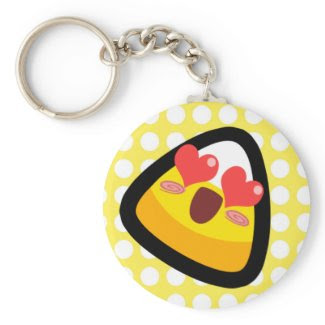 Oh My Goodness! Love-Struck Candy Corn! Keychain keychain