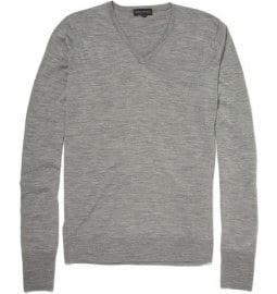 John Smedley Bobby Merino Wool V-neck Sweater