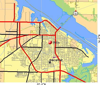 Decatur Al Zip Code Map | Campus Map