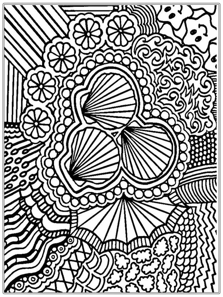 Hard Printable Coloring Pages For Adults - Coloring And Drawing