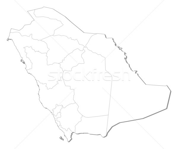 Map Of Saudi Arabia Vector Illustration Steffen Hammer