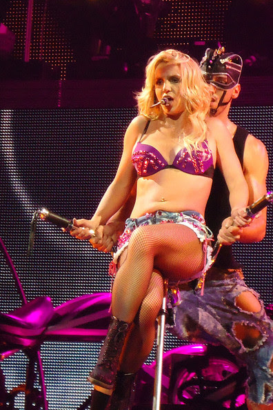 """Britney Spears Britney Spears wows the crowds as she performs at the HP Pavilion  in San Jose forming part of her 56-show  """"Femme Fatale"""" tour.."""