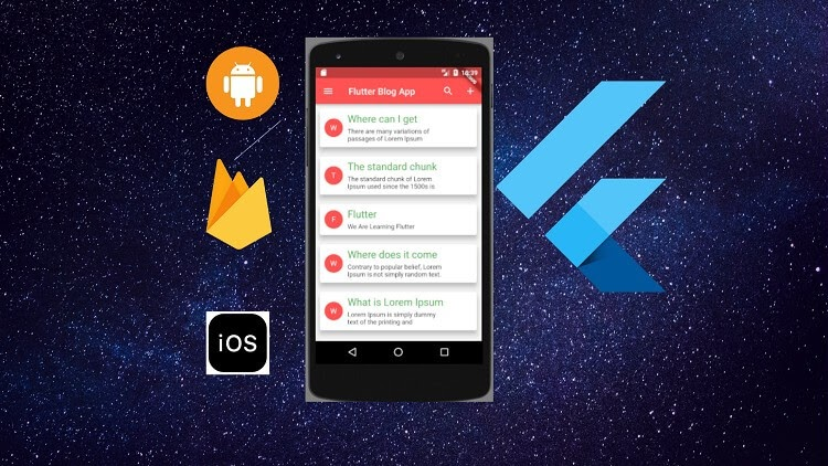 Flutter Blog app Using Firestore Build ios & Android App
