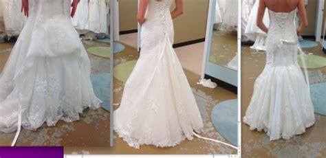 Bustle for lace fit and flare (With Pic)