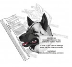 Norwegian Elkhound Dog Intarsia or Yard Art Woodworking Pattern - fee plans from WoodworkersWorkshop® Online Store - Norwegian Elkhound Dogs,pets,intarsia,yard art,painting wood crafts,scrollsawing patterns,drawings,plywood,plywoodworking plans,woodworkers projects,workshop blueprints