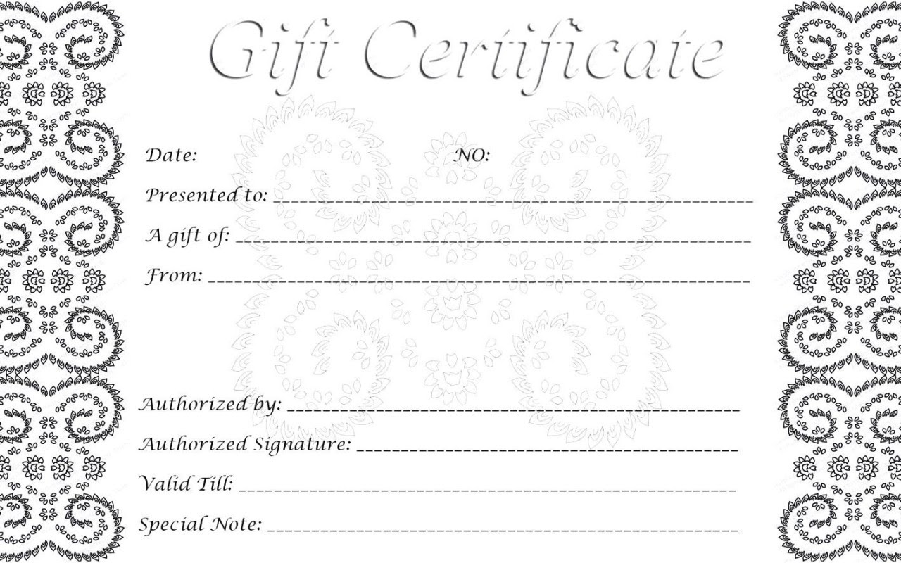 Gift Certificates Certificate Templates
