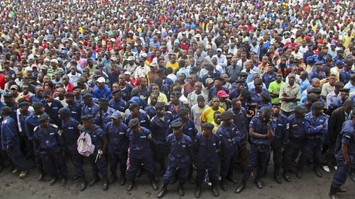 M23 rebels in the eastern Democratic Republic of Congo city of Goma held at rally on November 21, 2012. The group vowed to continue their march toward the capital of Kinshasha in the west. by Pan-African News Wire File Photos