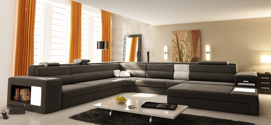 LA Furniture Blog » Blog Archive Contemporary Leather Sectional ...