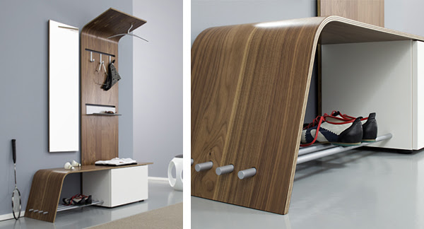 Curved Modular Hallway Furniture Set – Elli by Jannis ...