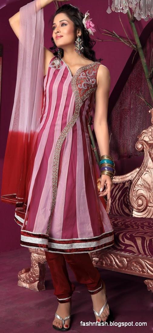Anarkali Umbrella Fancy Frocks-Indian-Pakistani New Latest Dress Designs Collection 2013-7