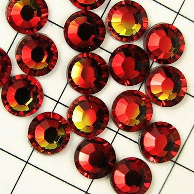 11920128001237 Swarovski Hot Fix Rhinestone - ss16 - Xilion Rose (2028) - Fire Opal (144)