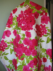 Fuschia lime floral fabric