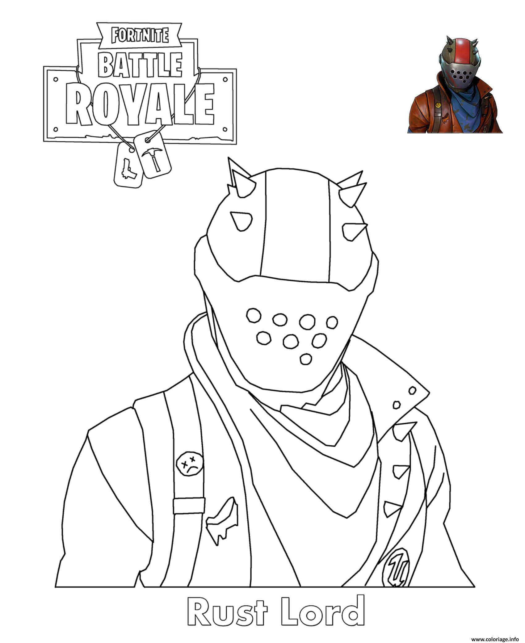 Coloriage Rust Lord Fortnite Battle Royale Jecoloriecom