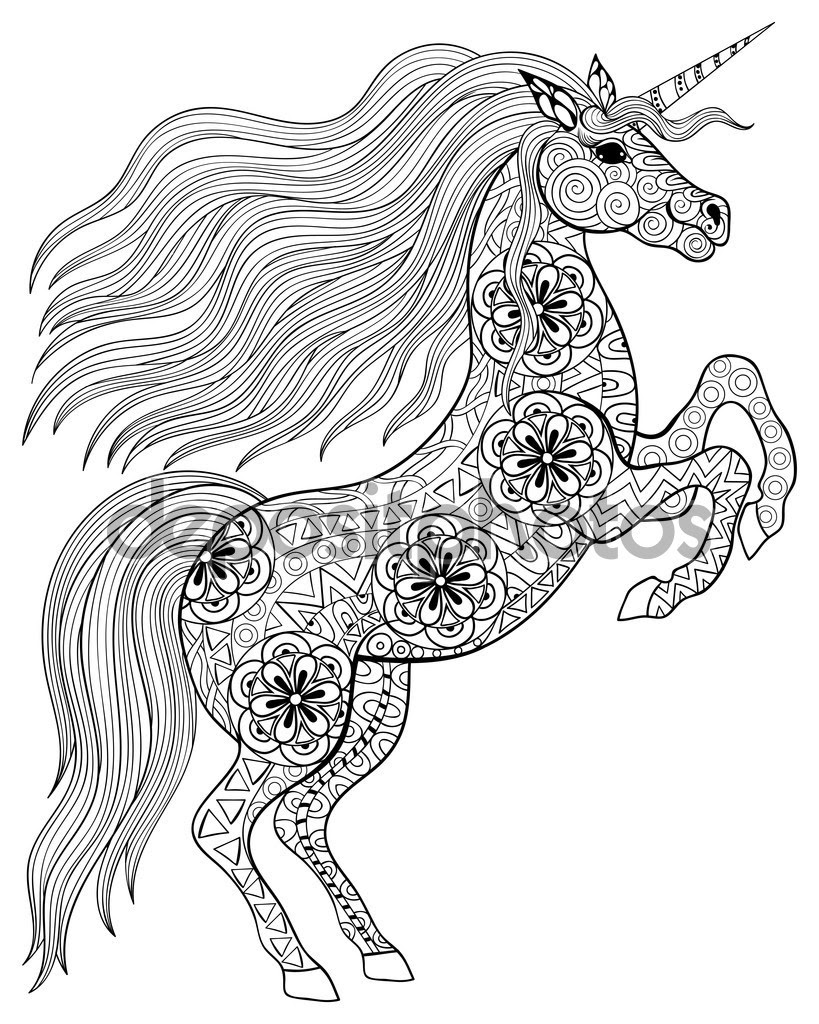 Detailed Unicorn Coloring Pages at GetColorings.com | Free ...