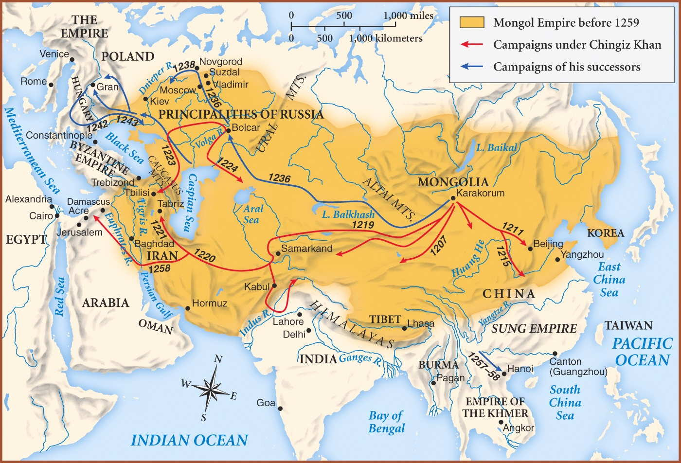 mongol empire - Why didn't Gengis Khan invade India ...   Mongol Conquest Land