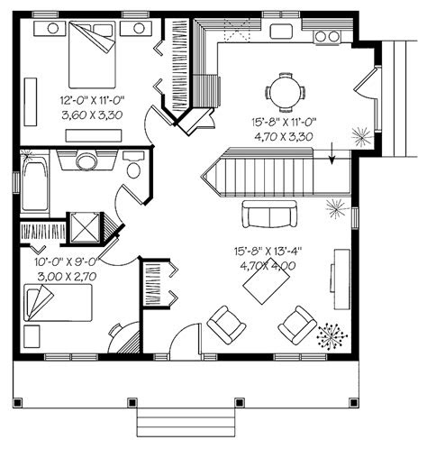 impressive starter home plans  nice small house plan