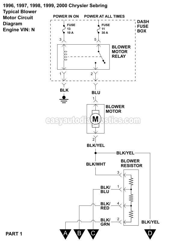 [DIAGRAM] Blower Motor Has No Power Part Is New As Well As ...