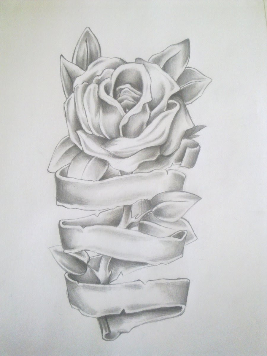 Free Rose With Ribbons Drawings Download Free Clip Art Free Clip