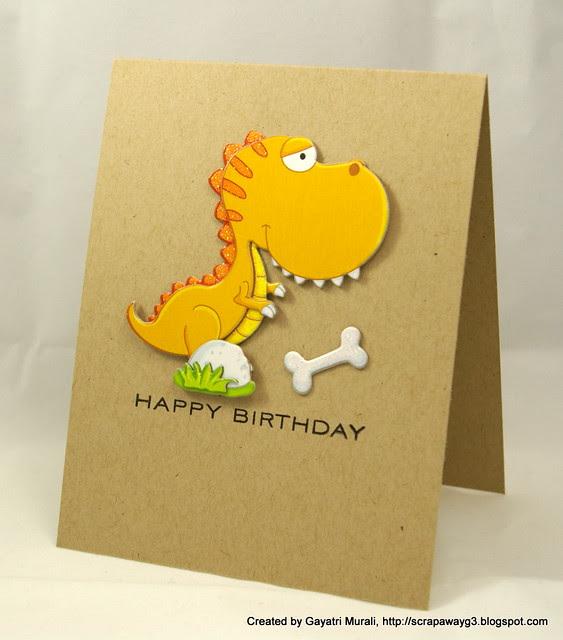 Dinosaur card 1