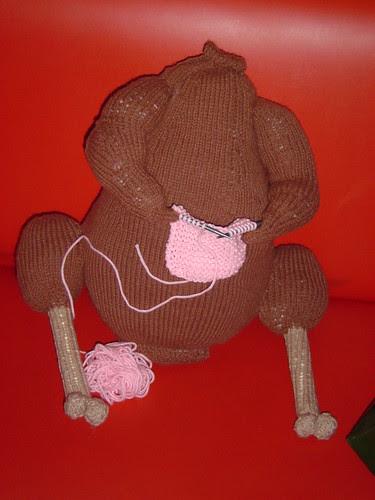 Matthew's knitting turkey
