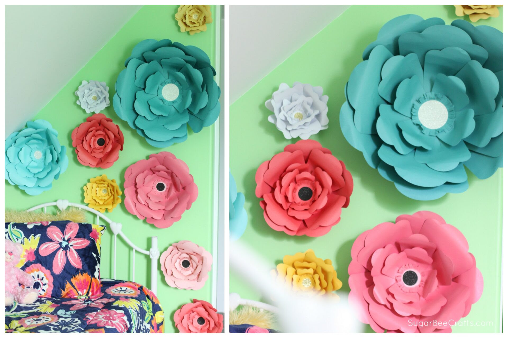 Big Bloom Paper Flower Wall Decor - Sugar Bee Crafts