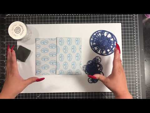 Tutorial - Creating Custom Backgrounds with Die Cuts & Gilding Flakes