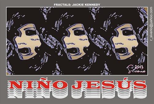 Fractal: Jackie Kennedy by Niño Jesús