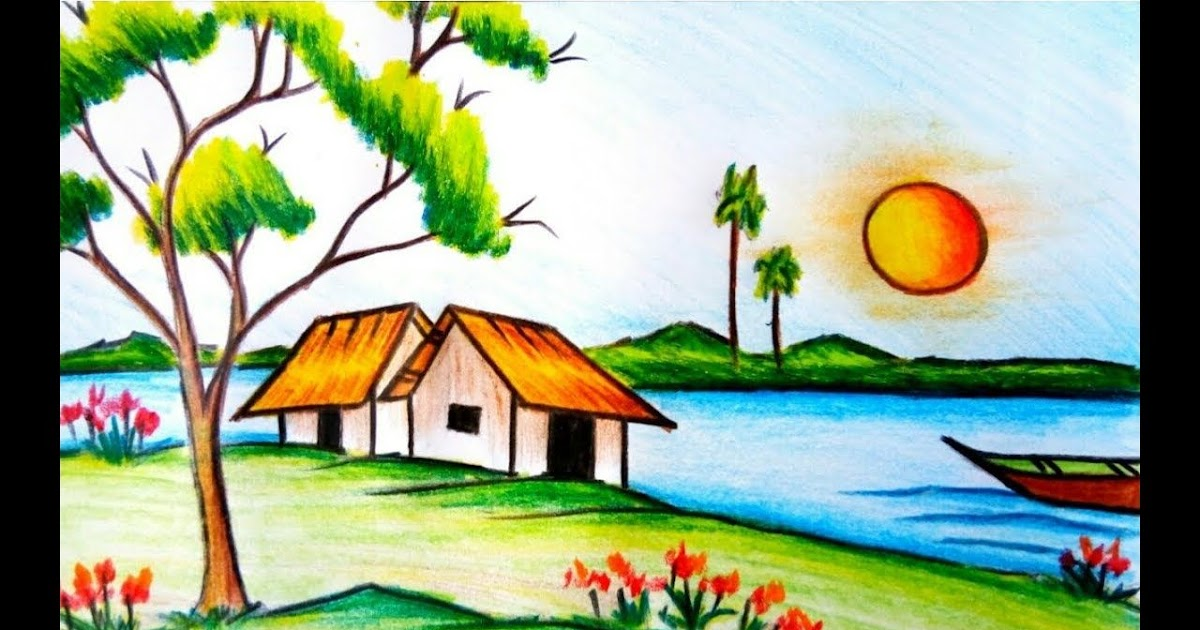 35 Trends For Colour Pencil Drawing Images Colour Easy Nature Drawing