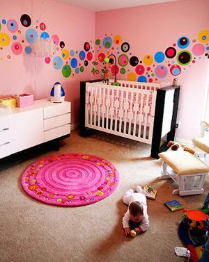 Dotty Modern Nursery Idea