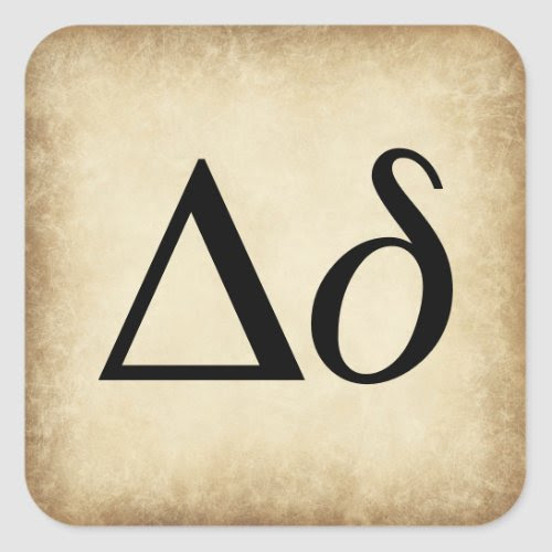 Greek Alphabet Letter Delta Square Sticker