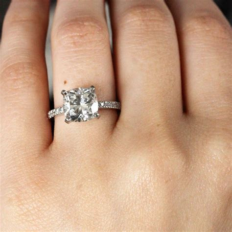 Cushion Cut Engagement Rings NO halo   Raymond Lee Jewelers