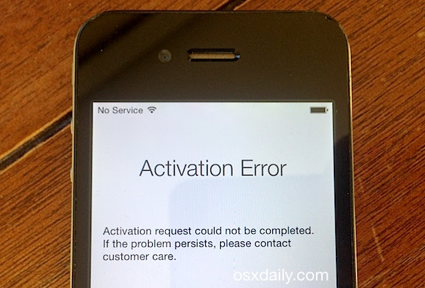Fix An Activation Error After An Iphone Reset Restore