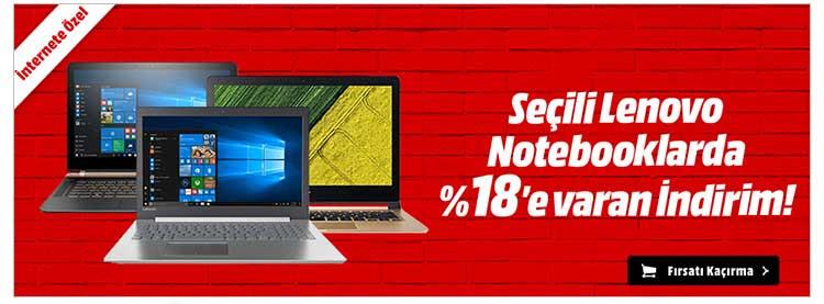 Seçili Lenovo Notebooklarda %18'e Varan İndirim!