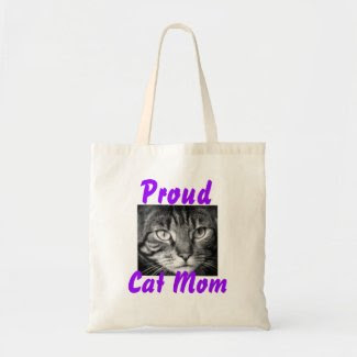 Proud Cat Mom Bag Tote Bags