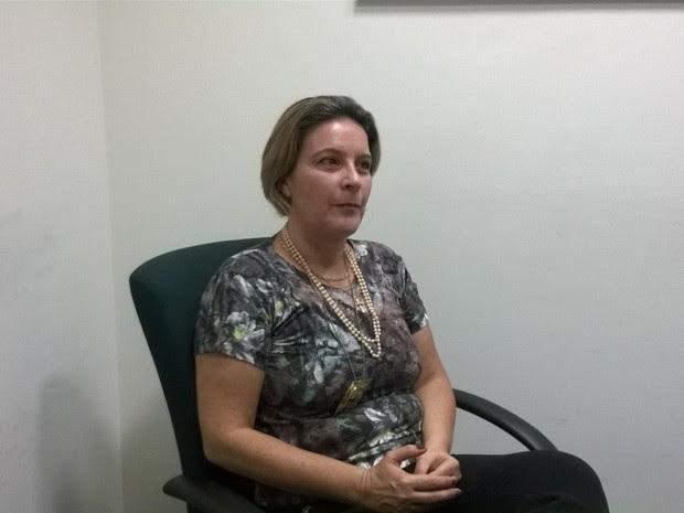 Delegada fala sobre depoimento da acusada (Foto: Adriane Souza/G1)