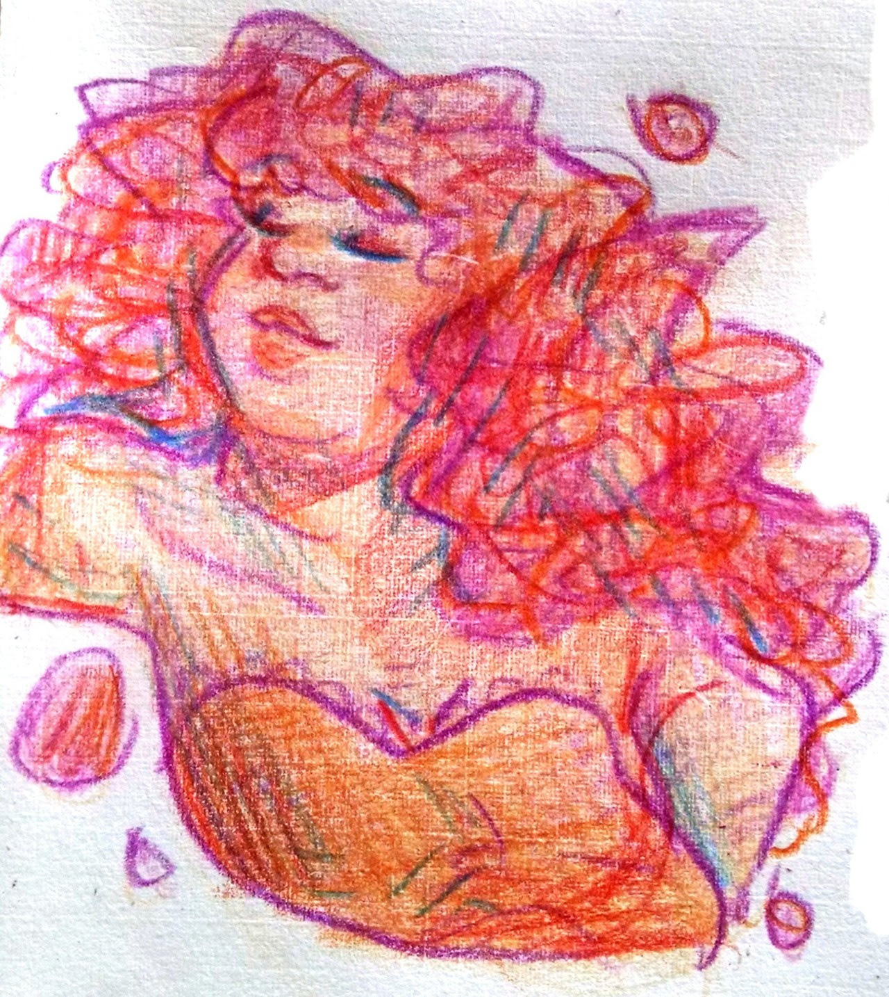 Experimenting some more w those colored pencils. This time, a lovely rock