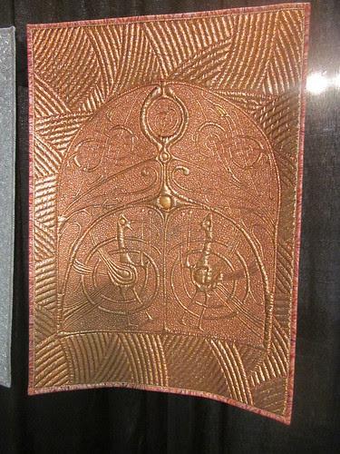 """""""Odin's Trilogy"""" by Linzi Upton, close up of bronze"""