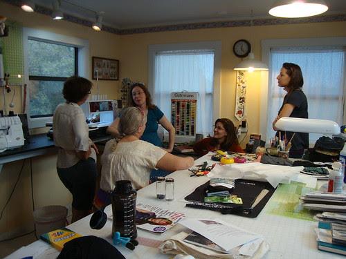 inside Juliette's sewing studio