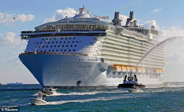 Royal Caribbean's 'Allure of the Seas' cruise ship. CCTV captured the man falling from a balcony outside his cabin on Deck 11 at about 7.10am local time on Friday