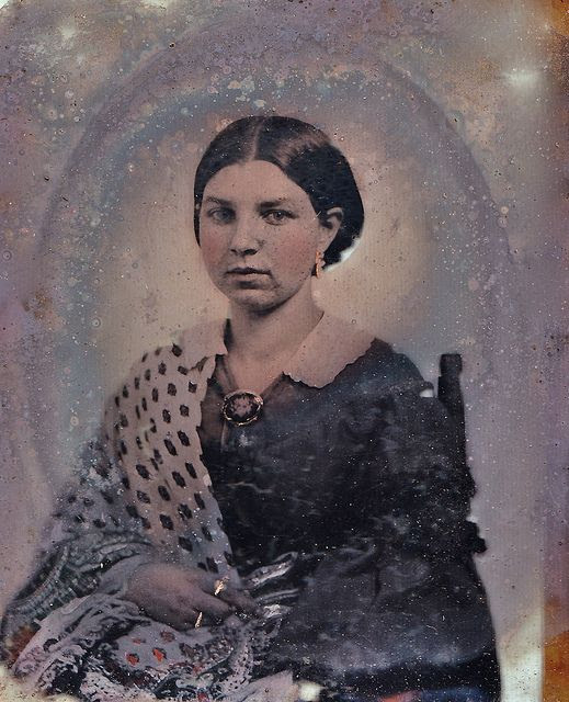 1/9th-Plate Relievo Ambrotype of Unknown Woman Wearing a Mourning Brooch, circa 1858 | Flickr - Photo Sharing