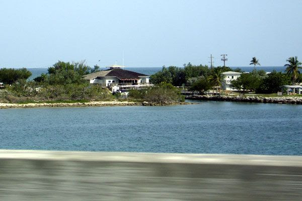Enjoying the scenery as I drove through the Florida Keys...on August 14, 2008.