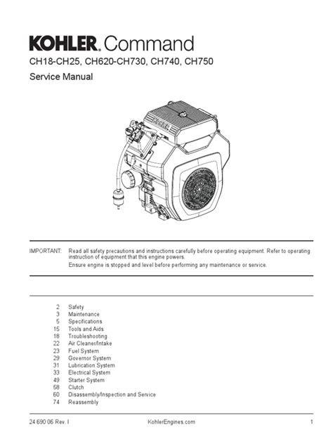 Kohler 14RESA Generator Engine Service Manual (CH740