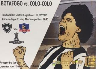 ingresso, Botafogo x Colo-Colo (Foto: Vitor Silva/SSPress/Botafogo)