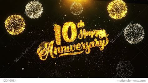 10th Happy Anniversary Text Greeting, Wishes, Celebration