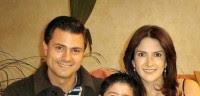 Peña Nieto, Maritza y su hijo en foto de archivo. Foto: @MaritzaDiazHdz