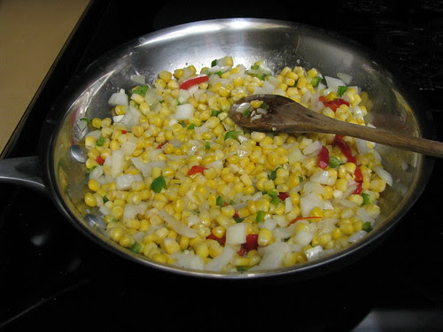 corn cooking 5 minutes