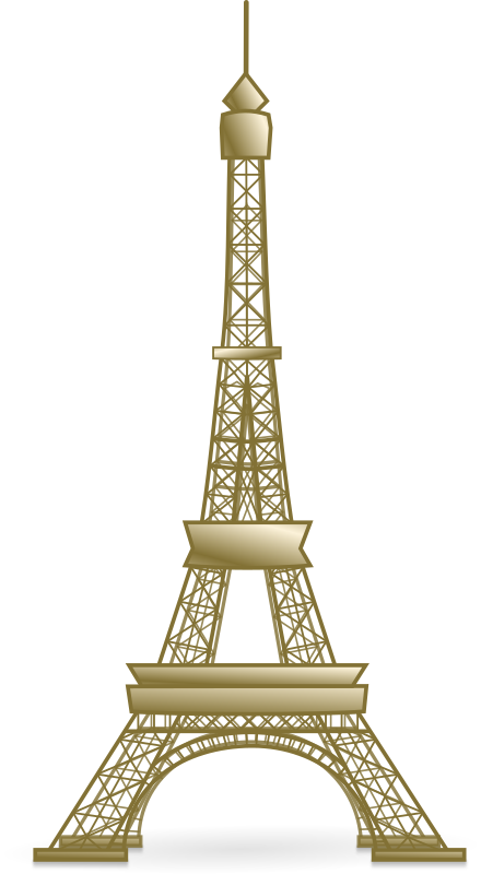 Eiffel Tower by BenBois - building, building, clip art, clipart, eiffel tower, eiffel tower, image, landmark, landmark, media, monument, monument, paris, paris, png, public domain, svg, tourism, tourism, tower, tower,